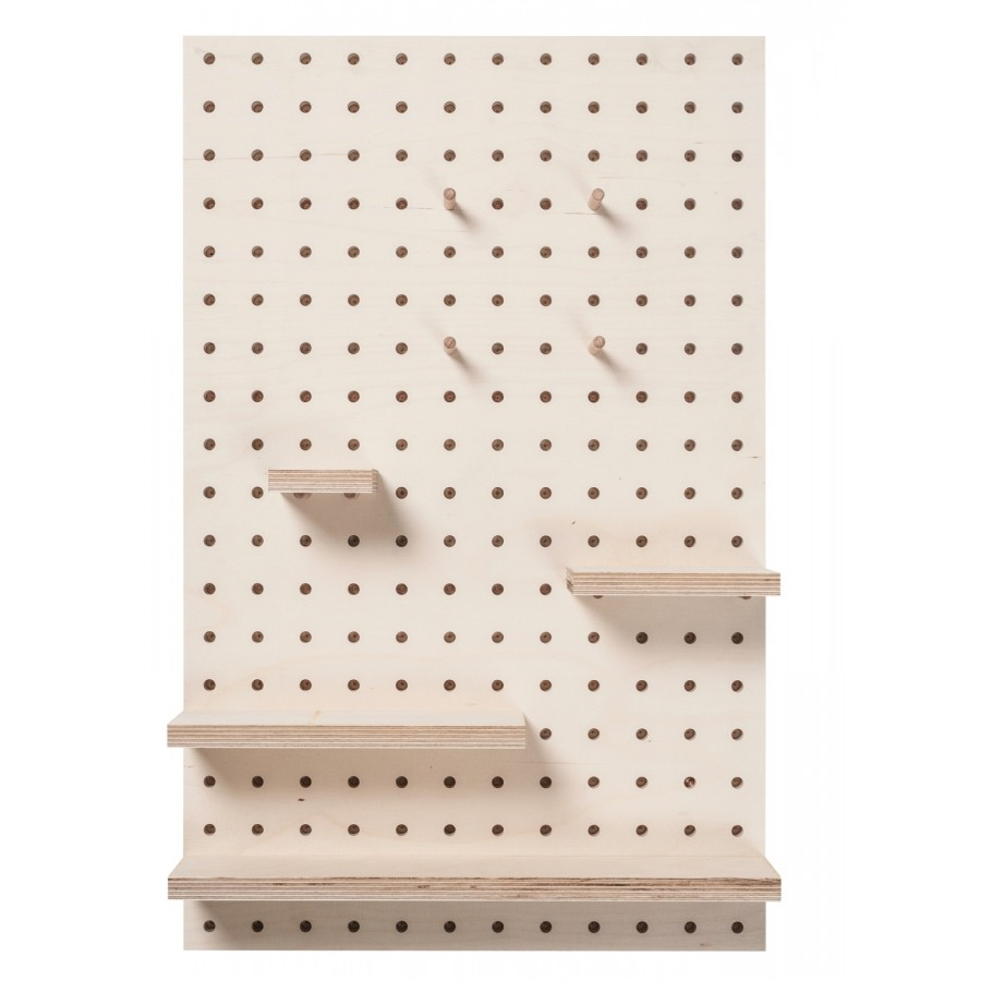 pegboard en bois en forme de rectangle petit moyen ou. Black Bedroom Furniture Sets. Home Design Ideas